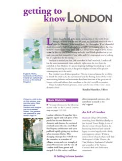 getting to know London