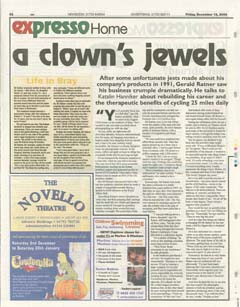 thumbnail A clown's jewels... article by Kate Hanniker